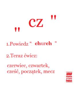 Polish pronunciation cz