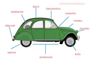 [B] Samochód (słownictwo)